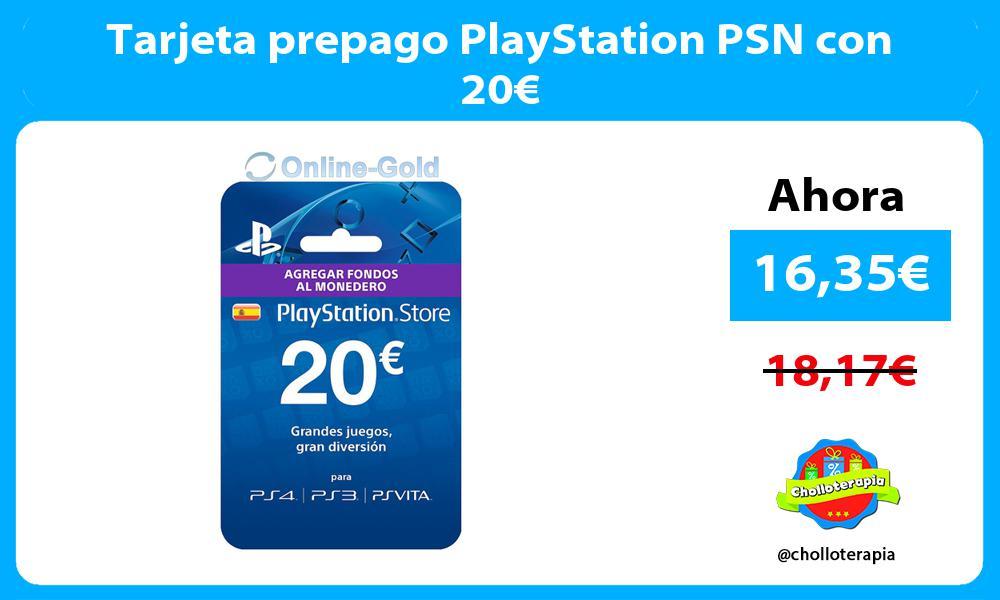 Tarjeta prepago PlayStation PSN con 20€