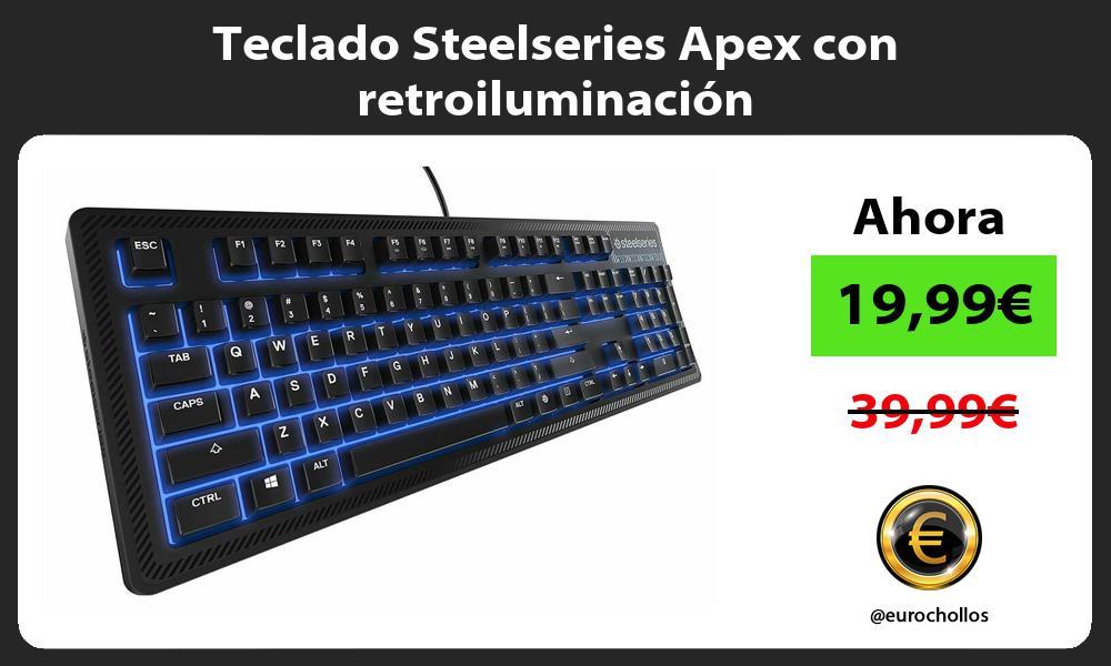 Teclado Steelseries Apex con retroiluminación