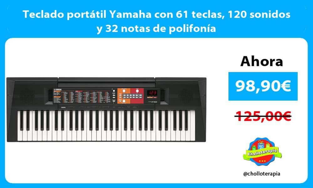 Teclado portátil Yamaha con 61 teclas 120 sonidos y 32 notas de polifonía