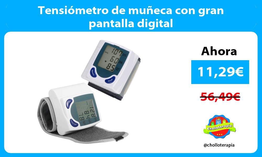 Tensiómetro de muñeca con gran pantalla digital