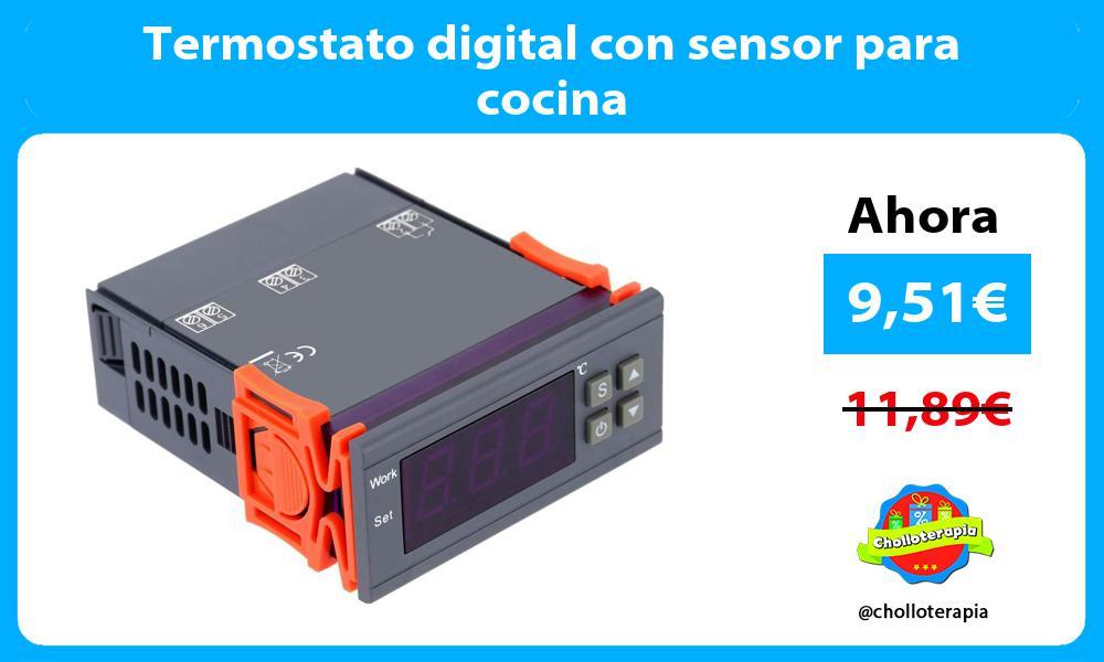 Termostato digital con sensor para cocina