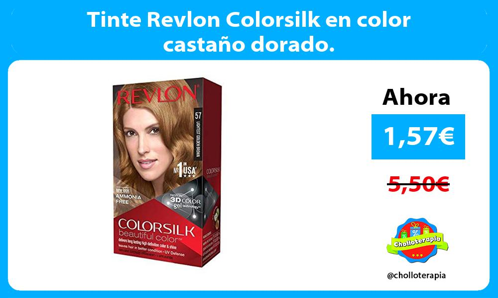 Tinte Revlon Colorsilk en color castaño dorado.