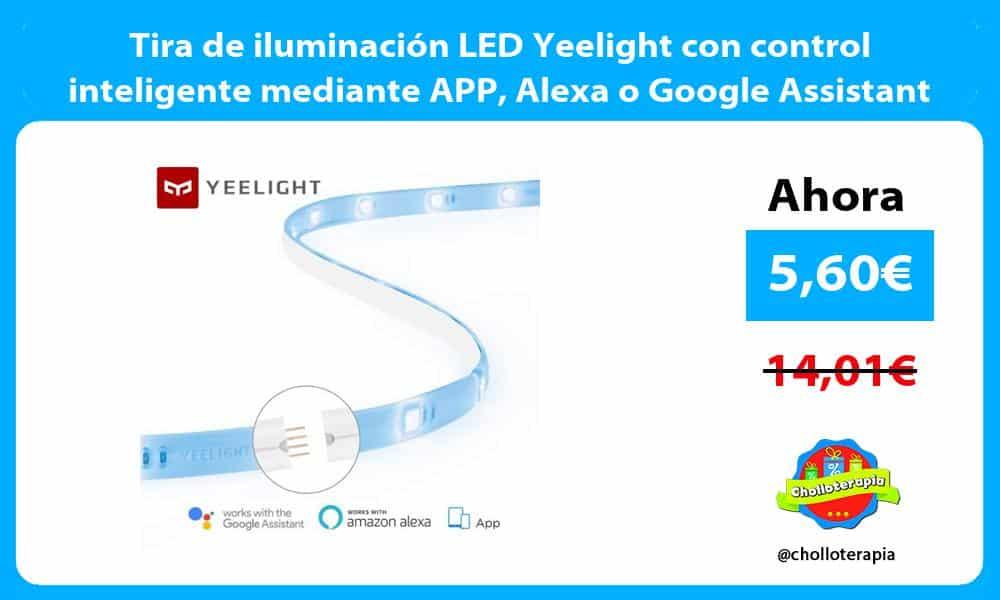 Tira de iluminación LED Yeelight con control inteligente mediante APP Alexa o Google Assistant