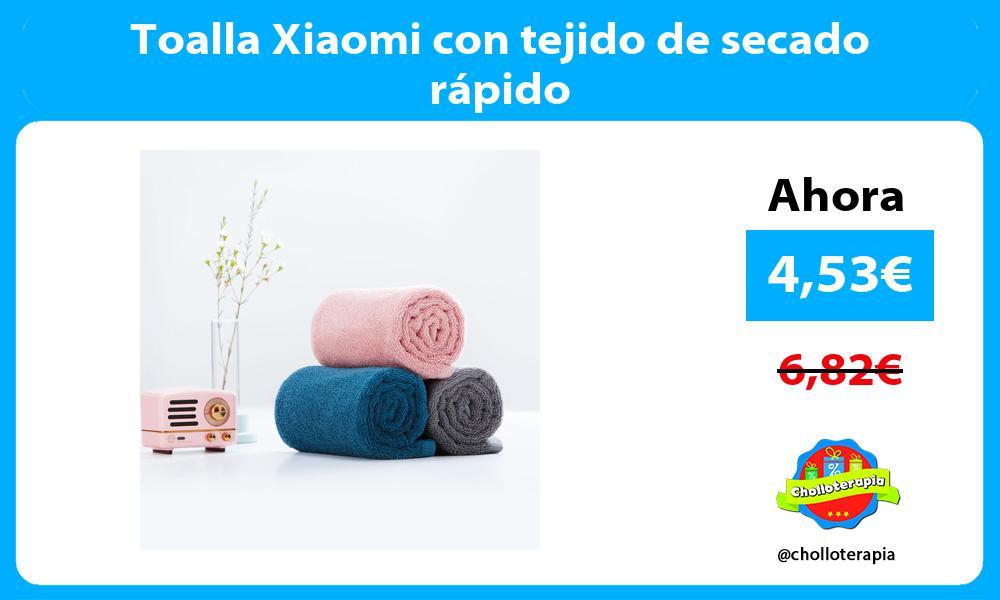 Toalla Xiaomi con tejido de secado rápido