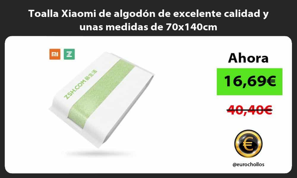 Toalla Xiaomi de algodón de excelente calidad y unas medidas de 70x140cm