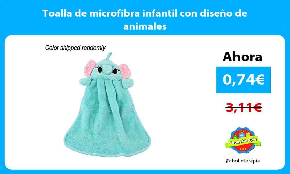 Toalla de microfibra infantil con diseño de animales
