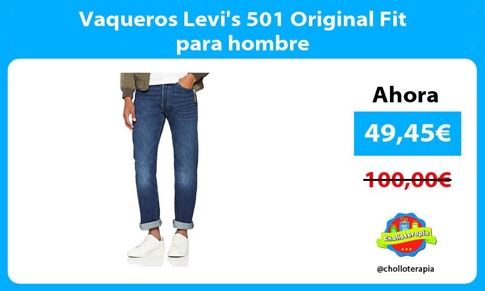 Vaqueros Levis 501 Original Fit para hombre