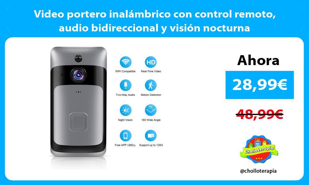 Video portero inalámbrico con control remoto audio bidireccional y visión nocturna