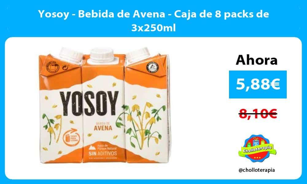 Yosoy Bebida de Avena Caja de 8 packs de 3x250ml