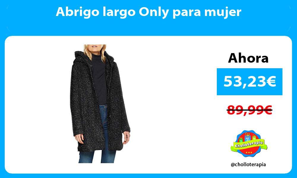 Abrigo largo Only para mujer