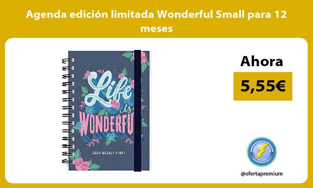 Agenda edición limitada Wonderful Small para 12 meses