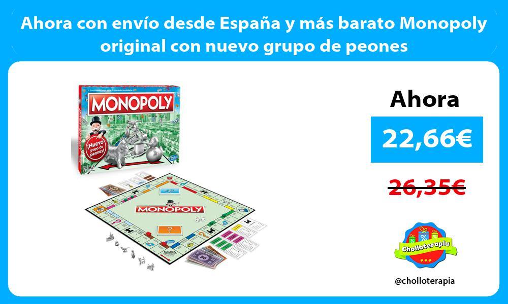 Ahora con envío desde España y más barato Monopoly original con nuevo grupo de peones