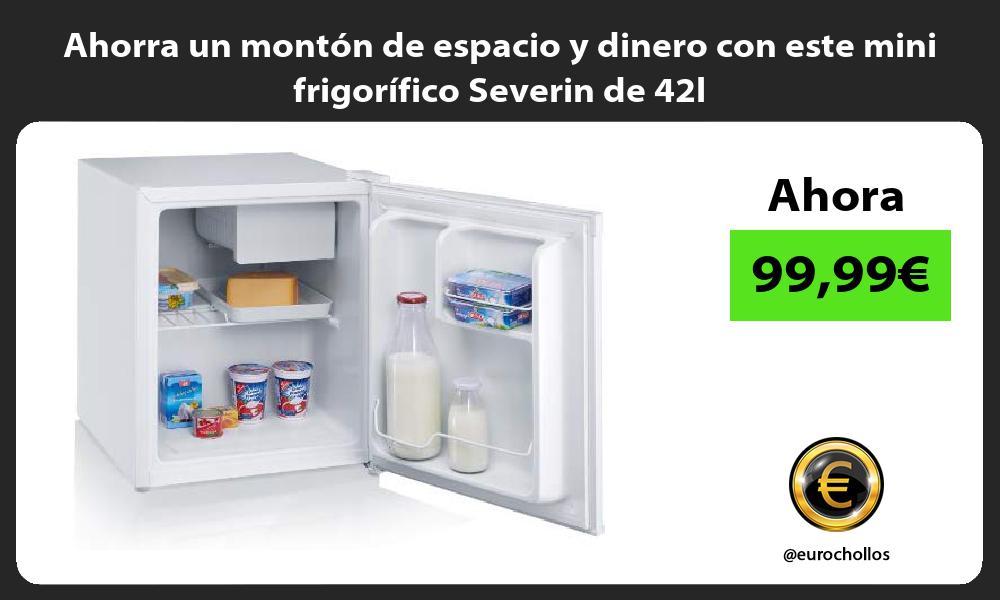 Ahorra un montón de espacio y dinero con este mini frigorífico Severin de 42l