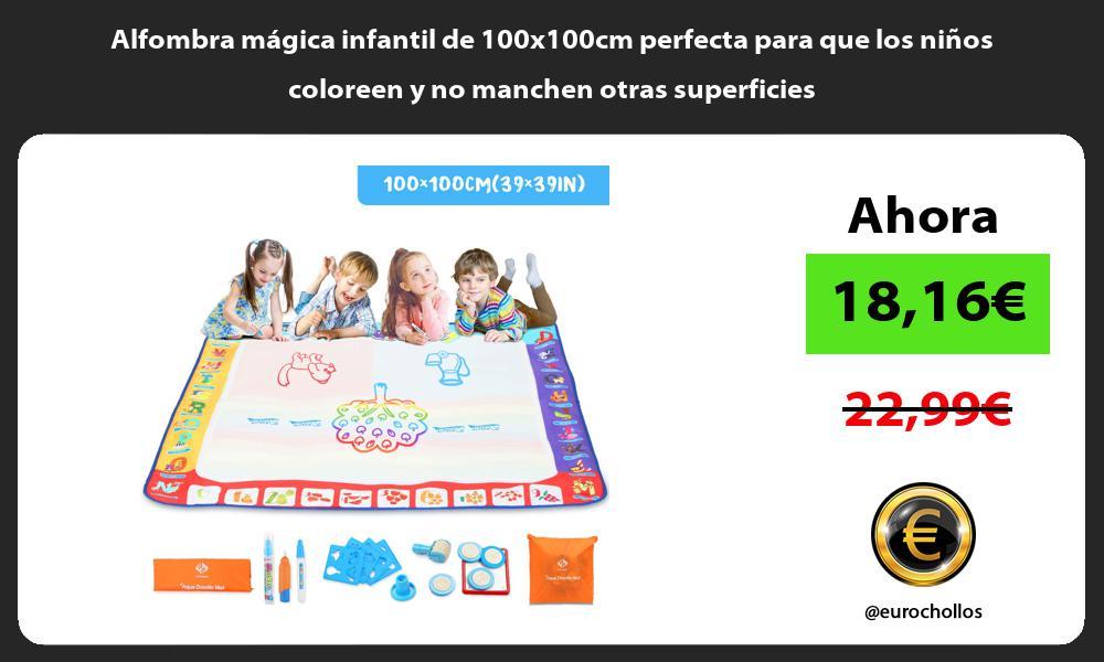 Alfombra mágica infantil de 100x100cm perfecta para que los niños coloreen y no manchen otras superficies