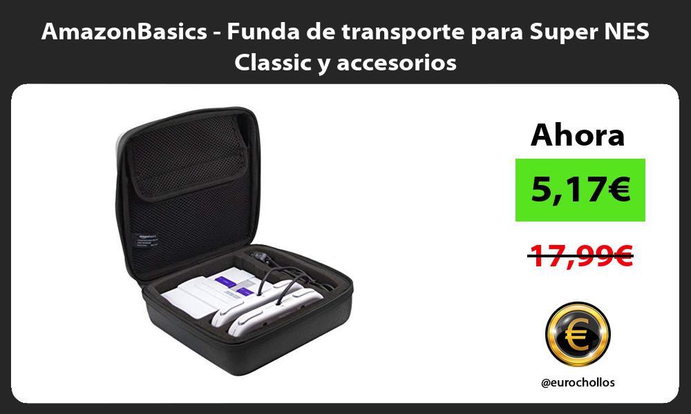 AmazonBasics Funda de transporte para Super NES Classic y accesorios