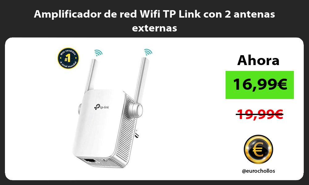 Amplificador de red Wifi TP Link con 2 antenas externas