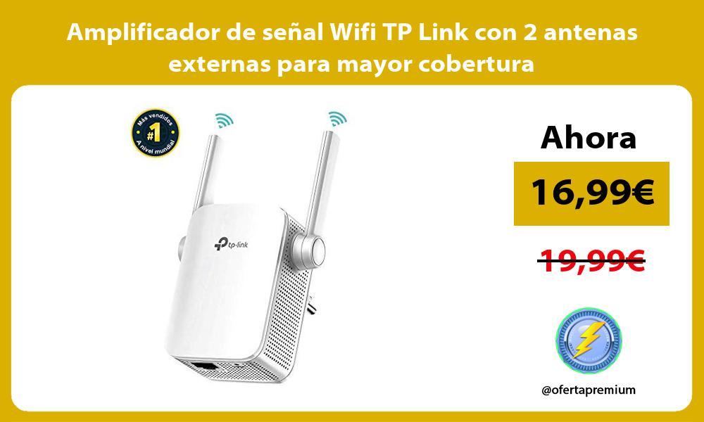 Amplificador de señal Wifi TP Link con 2 antenas externas para mayor cobertura