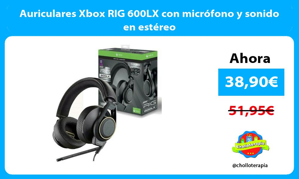 Auriculares Xbox RIG 600LX con micrófono y sonido en estéreo