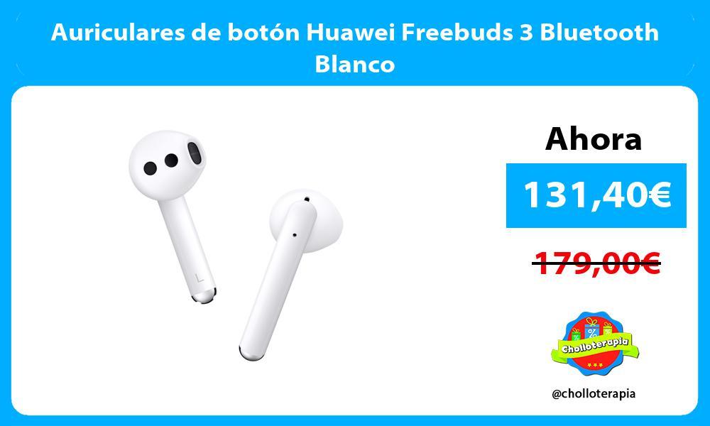 Auriculares de botón Huawei Freebuds 3 Bluetooth Blanco