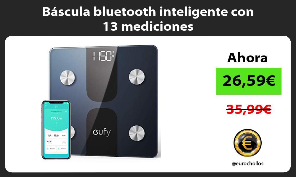 Báscula bluetooth inteligente con 13 mediciones