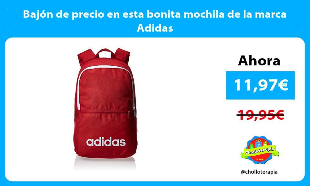 Bajón de precio en esta bonita mochila de la marca Adidas