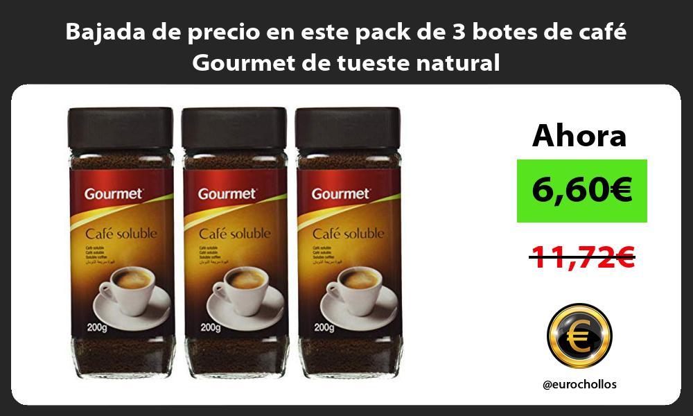 Bajada de precio en este pack de 3 botes de café Gourmet de tueste natural