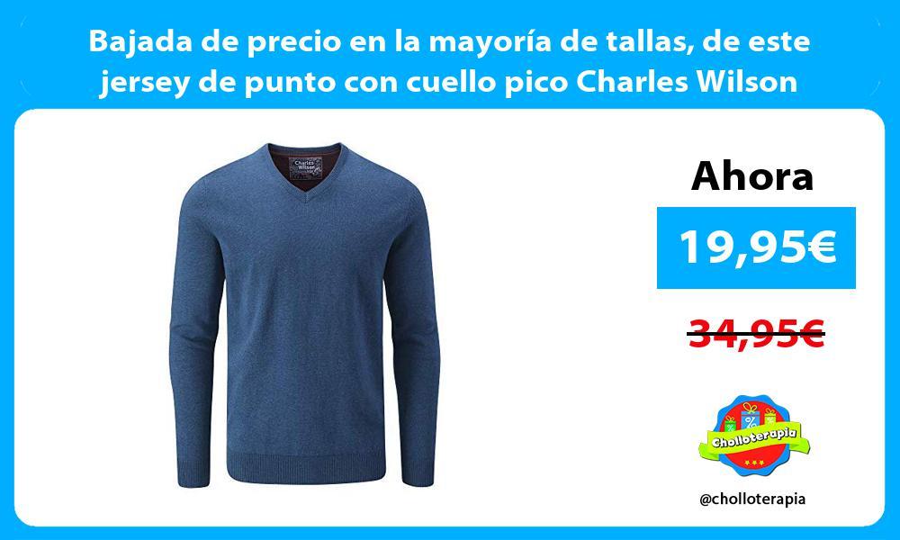 Bajada de precio en la mayoría de tallas de este jersey de punto con cuello pico Charles Wilson
