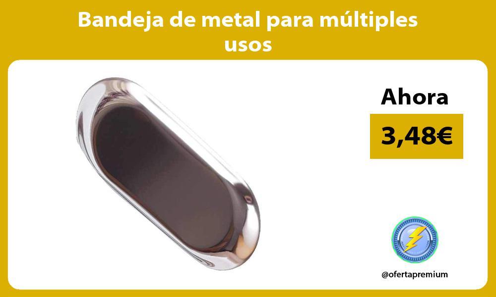 Bandeja de metal para múltiples usos