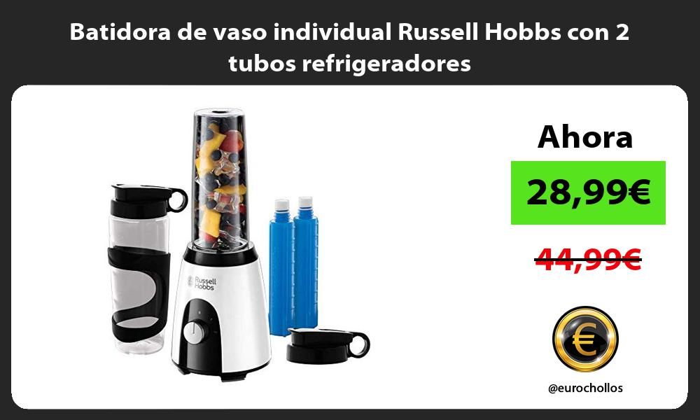 Batidora de vaso individual Russell Hobbs con 2 tubos refrigeradores