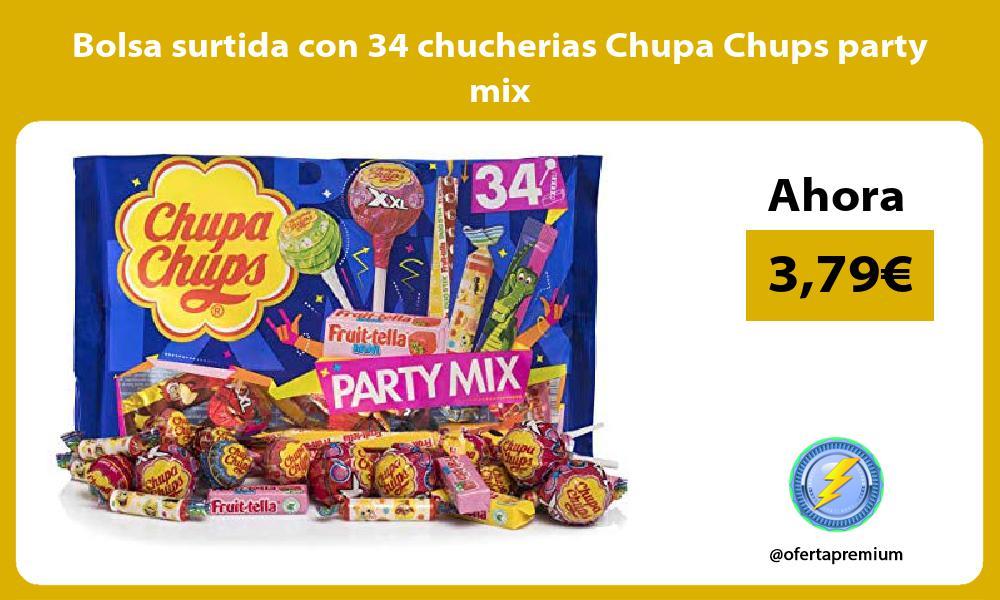 Bolsa surtida con 34 chucherias Chupa Chups party mix