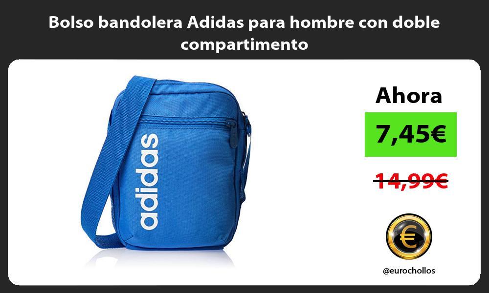 Bolso bandolera Adidas para hombre con doble compartimento