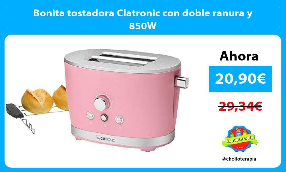 Bonita tostadora Clatronic con doble ranura y 850W
