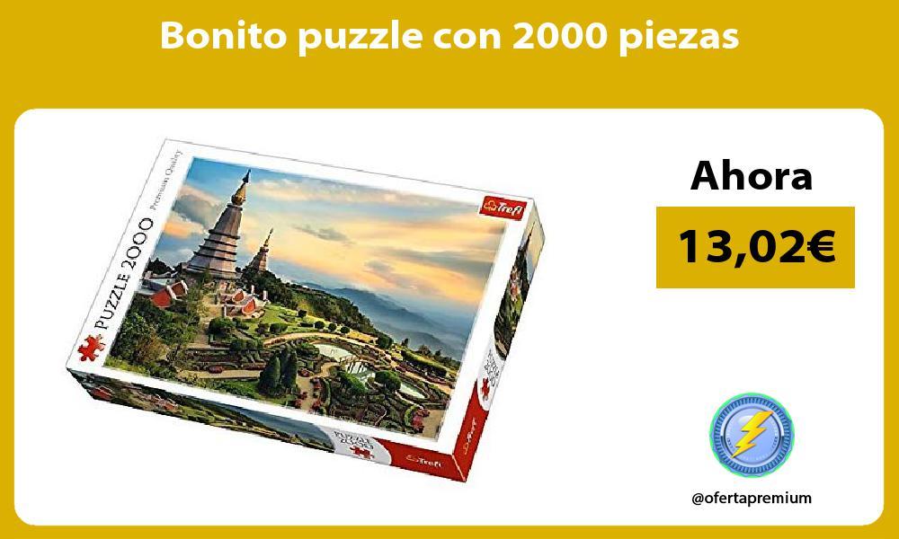 Bonito puzzle con 2000 piezas