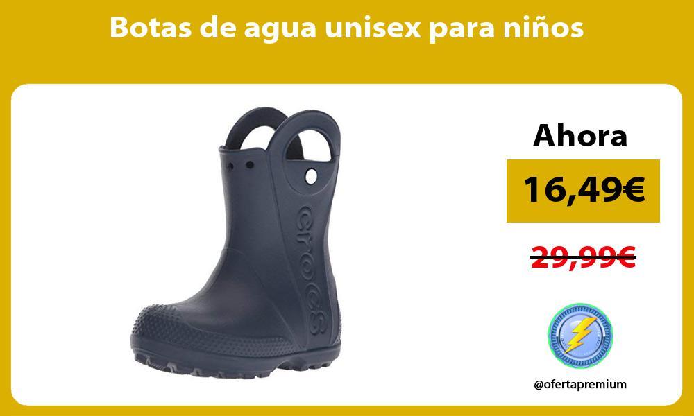 Botas de agua unisex para niños