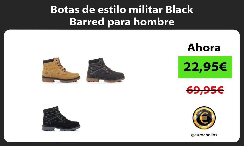 Botas de estilo militar Black Barred para hombre