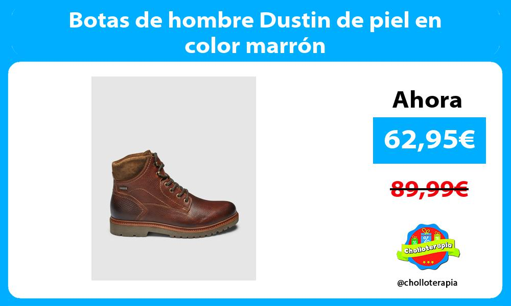 Botas de hombre Dustin de piel en color marrón