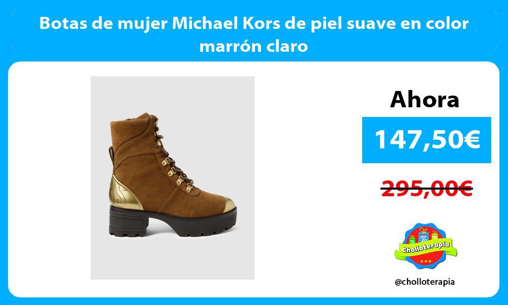 Botas de mujer Michael Kors de piel suave en color marrón claro