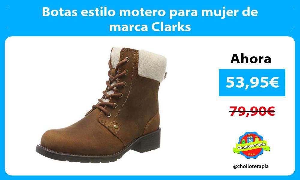 Botas estilo motero para mujer de marca Clarks