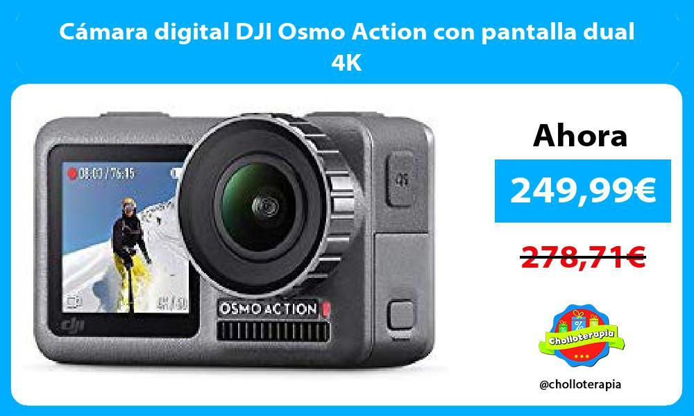 Cámara digital DJI Osmo Action con pantalla dual 4K