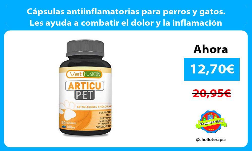 Cápsulas antiinflamatorias para perros y gatos Les ayuda a combatir el dolor y la inflamación