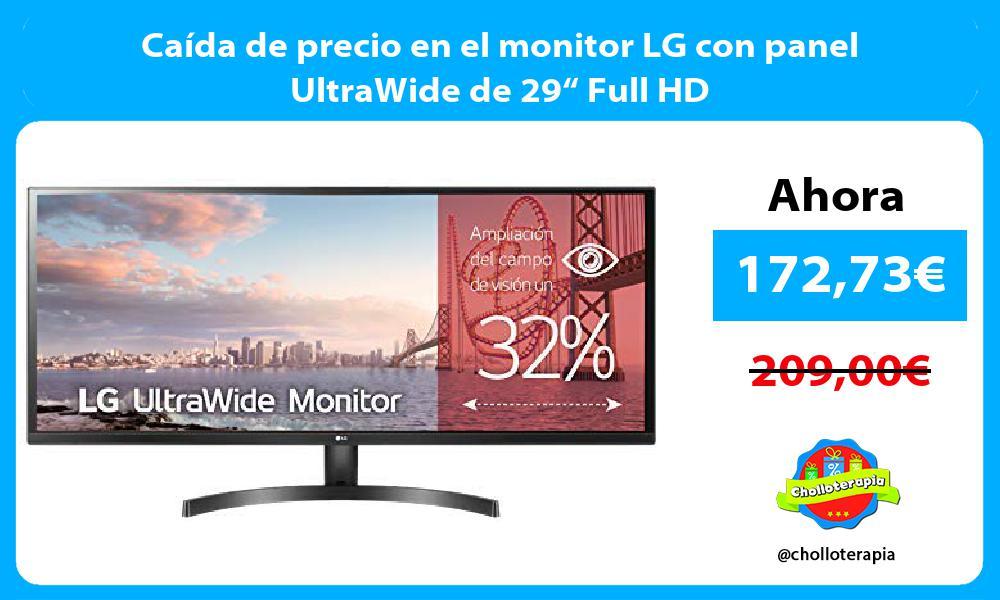 """Caída de precio en el monitor LG con panel UltraWide de 29"""" Full HD"""