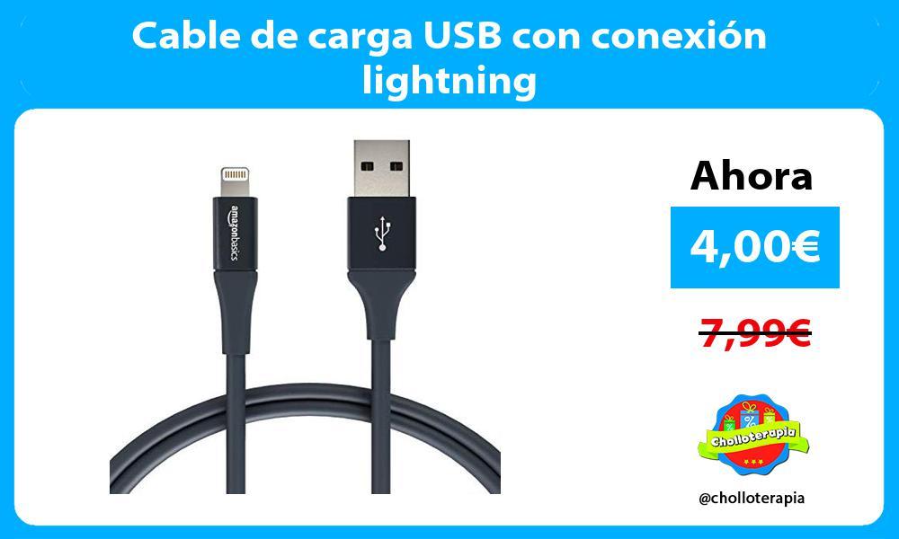 Cable de carga USB con conexión lightning