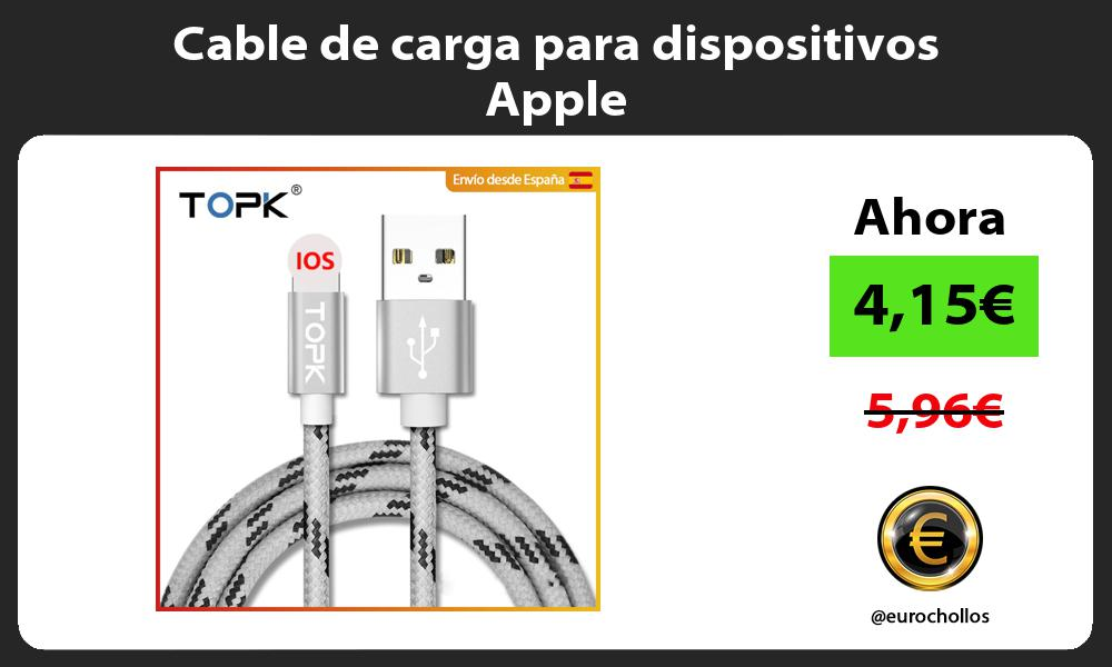 Cable de carga para dispositivos Apple