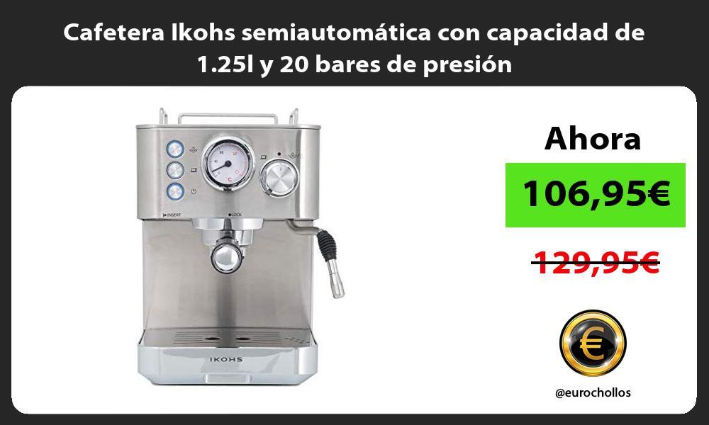 Cafetera Ikohs semiautomática con capacidad de 1 25l y 20 bares de presión