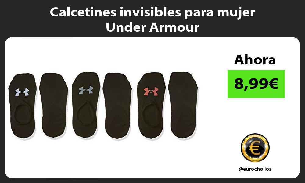 Calcetines invisibles para mujer Under Armour