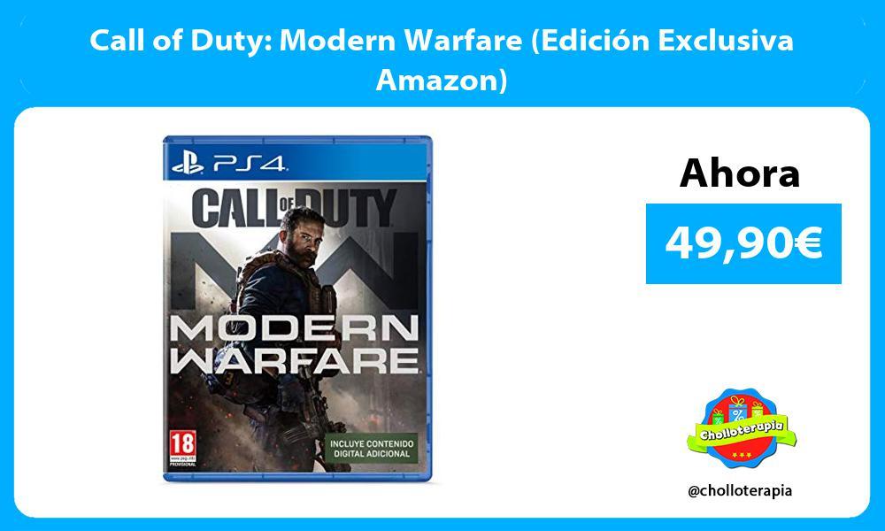 Call of Duty Modern Warfare Edición Exclusiva Amazon