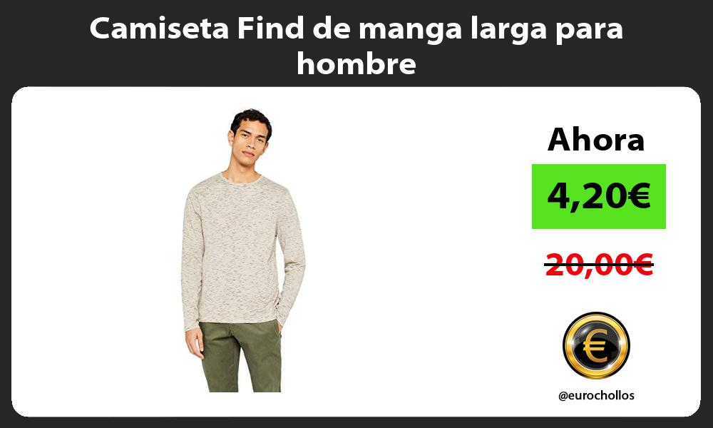 Camiseta Find de manga larga para hombre