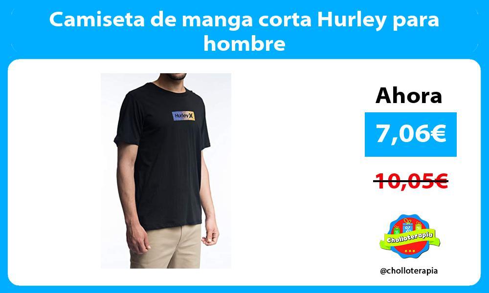 Camiseta de manga corta Hurley para hombre