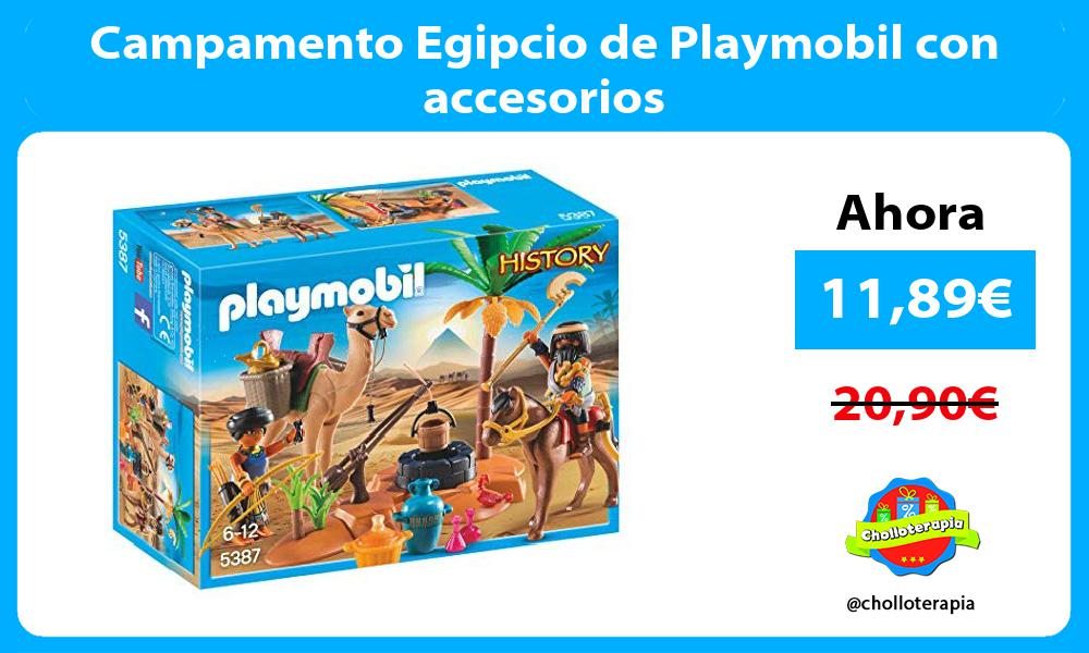 Campamento Egipcio de Playmobil con accesorios