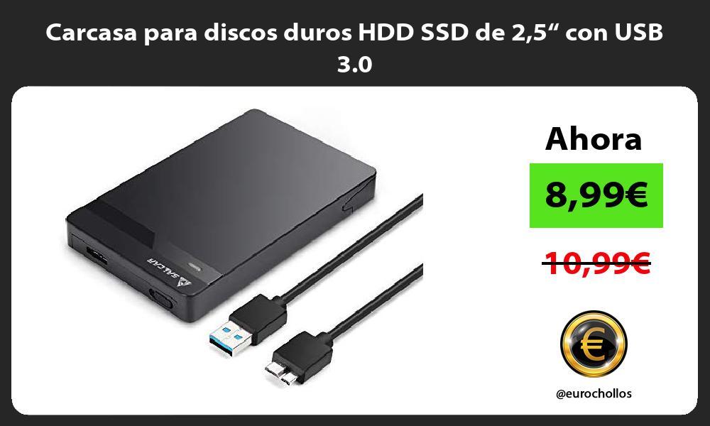 "Carcasa para discos duros HDD SSD de 25"" con USB 3 0"